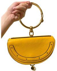 Chloé Bracelet Nile Leather Handbag - Yellow