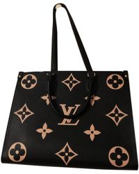 Louis Vuitton Onthego Leinen Shopper - Schwarz