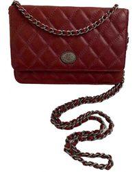 Chanel Leder cross body tashe - Rot