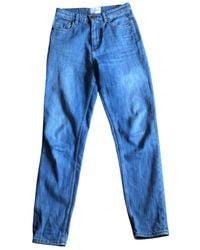 Sezane Jeans Baumwolle - Elasthan Blau