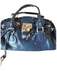 Chloé Paddington Blue Leather Handbag