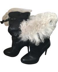 Burberry Mongolian Lamb Snow Boots - Black