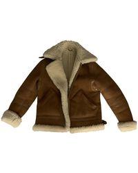 Acne Studios Shearling Coat - Brown