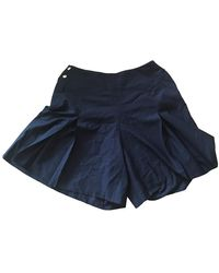 Chanel Vintage Black Wool Shorts