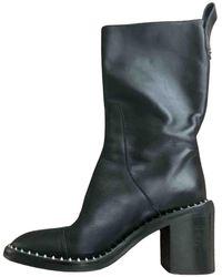 Zadig & Voltaire Leather Biker Boots - Black