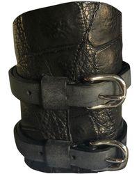 Balmain Alligator Jewelry - Black