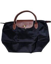 Longchamp Small Le Pliage Top Handle Bag - Black