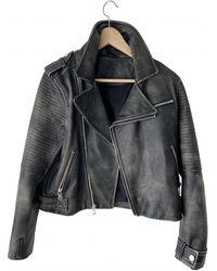 Marc By Marc Jacobs Leather Biker Jacket - Black