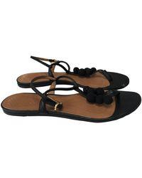 Anya Hindmarch Leather Sandal - Black