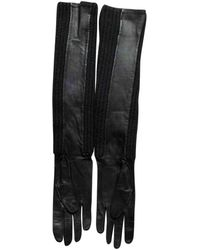 Louis Vuitton Leather Long Gloves - Black