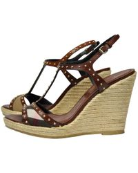 Burberry - Leather Sandals - Lyst