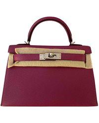 Hermès Kelly Mini Leder Handtaschen - Lila