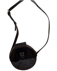 Vanessa Seward Patent Leather Crossbody Bag - Black