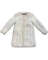 Michael Kors Faux Fur Coat - White