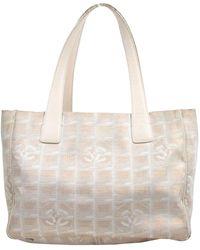 Chanel Leinen Handtaschen - Mehrfarbig
