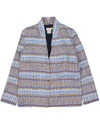 Roseanna Multicolor Cotton Jacket - Blue
