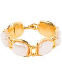 Chanel \n Gold Metal Bracelet - Metallic