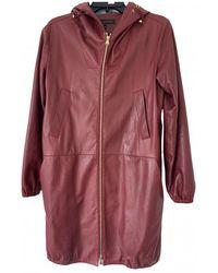 Louis Vuitton Leather Coat - Multicolor