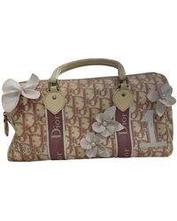 Dior Pink Cloth Handbag