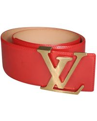 Louis Vuitton Patent Leather Belt - Red