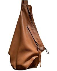 Loewe Backpack Brown Leather Backpack
