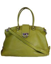Ferragamo - Green Leather Handbag - Lyst