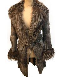 John Galliano Grey Fur - Gray