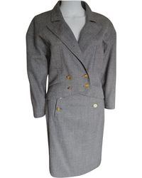 Chanel Vintage Gray Wool Jacket