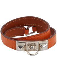 Hermès - Rivale Leather Bracelet - Lyst