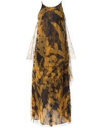 Lanvin - Yellow Silk Dress - Lyst