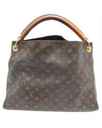 Louis Vuitton Bolsa de mano en cuero marrón Artsy