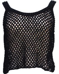 Chanel - Pre-owned Vintage Black Cotton Tops - Lyst