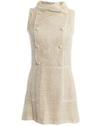 Chanel Seide Kleider - Natur