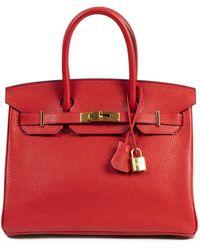 Hermès Bolso Birkin 30 de Cuero - Rojo