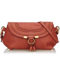 Chloé Hudson Red Leather Handbag