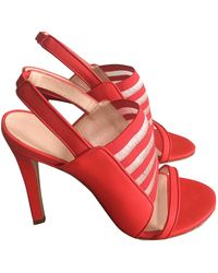 Christopher Kane Leather Sandals - Red