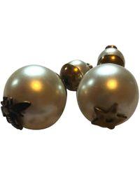 Dior - White Metal Earrings - Lyst