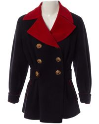 Christian Lacroix \n Black Wool Coats