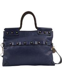 Lanvin - Pre-owned Leather Handbag - Lyst