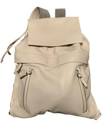 Brunello Cucinelli Leather Backpack - Natural