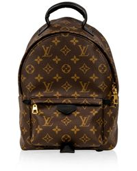 Louis Vuitton Palm Spring Brown Cloth Backpacks