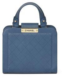 Chanel - Blue Leather Handbag - Lyst