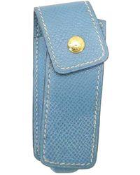 Hermès Blue Leather Purse Wallet & Case