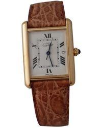 Cartier Reloj en bermellón blanco Tank Must