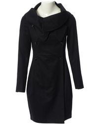 Stella McCartney Abrigo en lana negro