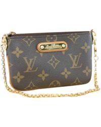 Louis Vuitton Milla Cloth Clutch Bag - Brown