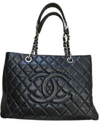 Chanel Sac à main Grand shopping en Cuir Noir