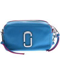 Marc Jacobs Snapshot Blue Leather Handbag