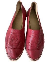 Chanel Leder Espadrilles - Rot