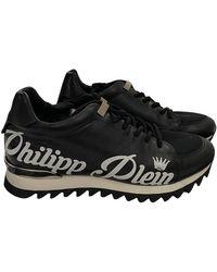 Philipp Plein Leather Sneakers - Black